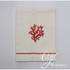 . Банное полотенце с вышивкой (коралл) КОРАЛО 110х150