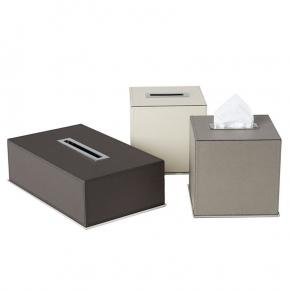 . Салфетница кожаная Firenze tissue boxes by GioBagnara