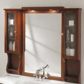 Зеркала для ванной. Eban Зеркало в раме с 2-мя шкафчиками Arianna/Gemma