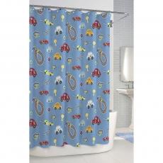 Аксессуары для детских ванных комнат. Шторка для ванной Race Track SCB-115-RTR-BLU