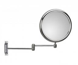 Зеркала косметические с подсветкой увеличением настенные настольные Зеркала с присосками. Зеркало настенное, с 3-х кратным увеличением DOPPIOLO 40/2KK3