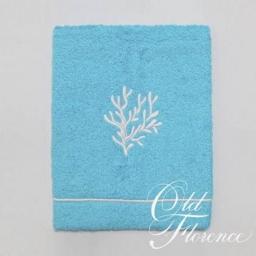 Полотенца хлопковые. Банное полотенце с вышивкой (белый) КОРАЛО 110х150