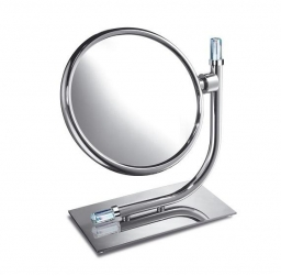Зеркала косметические с подсветкой увеличением настенные настольные Зеркала с присосками. Зеркало настольное 99636CR 5X Concept Chrome Swarovski