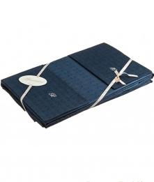 Постельное бельё Deluxe. Постельное белье двуспальное с пододеяльником (200х220) Quadrifoglio Темно-синий от Blumarine art.76404-19