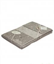 Постельное бельё Deluxe. Постельное белье с 2-я пододеяльниками 5-и предметное ЕВРО Chantal серый от Blumarine арт. 76436