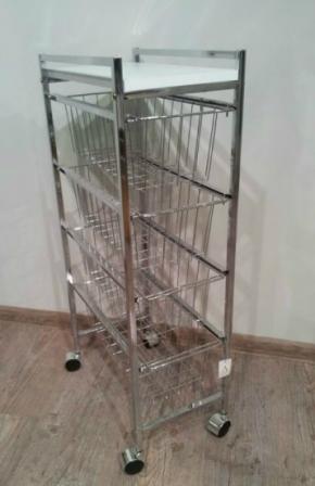 Этажерки для ванной. Тумба с 4-мя ящиками CC09193 этажерка