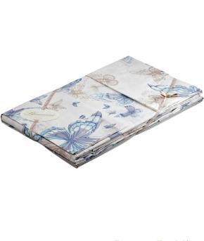 Постельное бельё Deluxe. Постельное белье двуспальное c двумя простынями Celeste Голубой от Blumarine Арт.77983-03