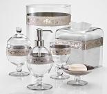 Аксессуары для ванной настольные. Bellino Clear Platinum стеклянные настольные аксессуары для ванной