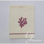 Полотенца хлопковые. Банное полотенце с вышивкой (лиловый) КОРАЛО 110х150