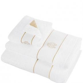 Полотенца хлопковые Deluxe. Комплект полотенец 5-ти предметный (для рук 40х60-2шт., тела 60х110-2шт. и банное 100х150-1шт.) Gold New (Голд Нью) Белый