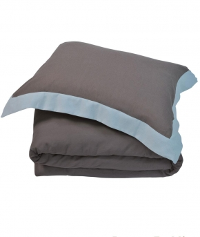 Постельное бельё. Постельное белье HAMPTON двуспальное евро (200х220) Коричневый/Морская пена от Casual Avenue