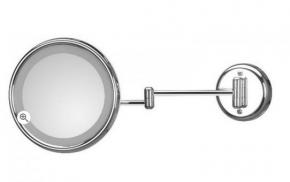 . Зеркало настенное, с подсветкой, без провода, с 3-х кратным увеличением LUCCIOLO 20/2KK3