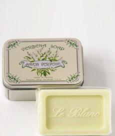 Luxury Гель для душа Мыло. Мыло ароматизированное Вербена в жестяной коробочке от Le Blanc