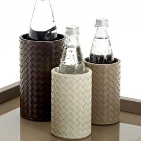 Посуда Столовые приборы Декор стола Deluxe. Подставки для бутылок кожаные Milano bottle holders by Riviere