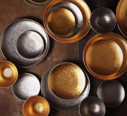 Посуда Столовые приборы Декор стола Deluxe. Тарелка Alchimie Gold для хлеба и масла