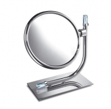 Зеркала косметические с подсветкой увеличением настенные настольные Зеркала с присосками. Зеркало настольное 99636CR 3X Concept Chrome Swarovski