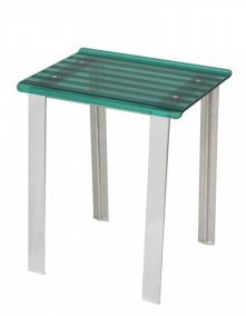 . Стул прямоугольный табурет для ванной Зелёный 5370P