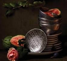 . Набор из 4-х тарелок для канапе Fortuny Tapa Platinum