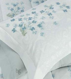 . Постельное белье двуспальное с двумя простынями Clio Голубой от Blugirl art.77441