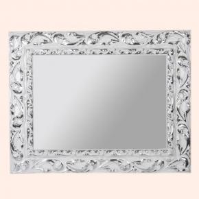 Зеркала для ванной. EBAN Зеркало EVA 95x75см серебро/белый