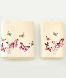 Полотенца хлопковые Deluxe. Комплект полотенец для лица и рук Castadiva Слоновая кость от Blugirl art.78672-02