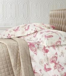 Постельное бельё Deluxe. Постельное белье двуспальное c двумя простынями Celeste Розовый от Blumarine Арт.77983-1