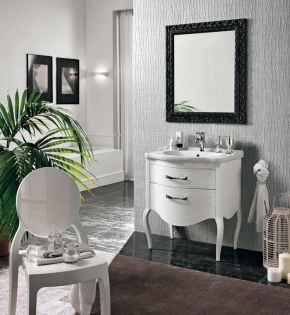 Мебель для ванной комнаты. Eban Sonia 75 мебель для ванной Bianco