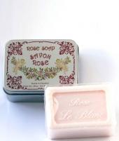 Luxury Гель для душа Мыло. Мыло ароматизированное Роза в жестяной коробочке от Le Blanc