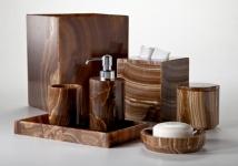 . Espresso натуральный камень мраморный Оникс настольные аксессуары для ванной