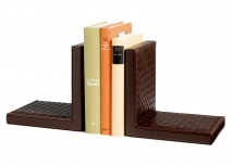 Аксессуары и Мебель для дома. Опора для книг кожаная Milano bookends by Riviere