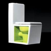 Унитазы Биде. Унитаз напольный Althea Ceramica Design Outline 30443 с керамическим бочком в комплекте