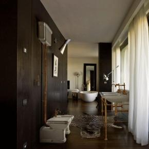 Унитазы Биде. Унитаз приставной с высоким бачком Kerasan Waldorf