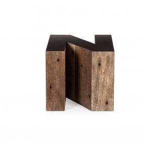 Журнальные Приставные Кофейные столы. Стол приставной Wooden Alphabet N