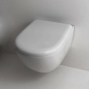 Унитазы Биде. Унитаз подвесной Kerasan Aquatech 3715 c сиденьем микролифт 378801 bi/cr