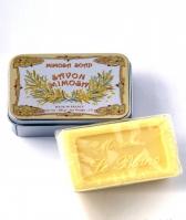 Luxury Гель для душа Мыло. Мыло ароматизированное Мимоза в жестяной коробочке от Le Blanc