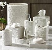 Аксессуары для ванной настольные. Bedminster Damask керамические настольные аксессуары для ванной