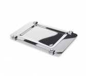 Аксессуары для ванной настольные. Подставка для предметов 51517CRB (white) Moonlight Square Chrome Swarovski