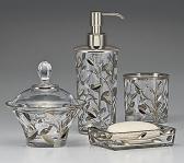 . Crystal Vine Platinum стеклянные настольные аксессуары для ванной