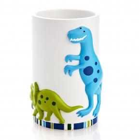 Аксессуары для детских ванных комнат. Стакан для зубной пасты Dino Park ADP-T