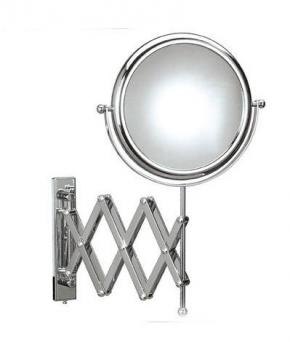 Зеркала косметические с подсветкой увеличением настенные настольные Зеркала с присосками. Зеркало настенное с 3-х кратным увеличением DOPPIOLO 43/1KK3 шарнир гармошка двойная