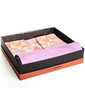 Постельное бельё Deluxe. Постельное белье королевское Odette (240×220) Сиреневый от Missoni