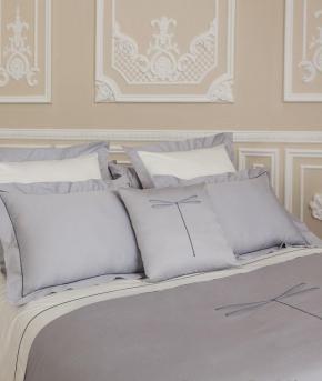 Постельное бельё Deluxe. Постельное белье Стрекоза двуспальное Серебро от Catherine Denoual Maison