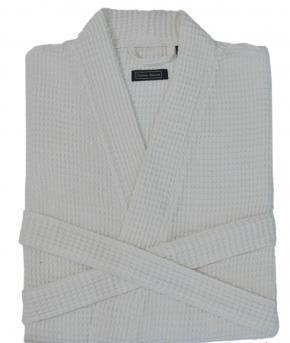 Халаты Одежда для бани и сауны. Халат Кимоно Унисекс вафельный банный Long Island (S/M; L/XL) Белый от Casual Avenue