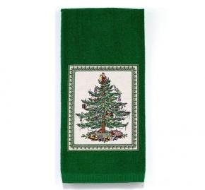 Новый Год. Полотенце кухонное с аппликацией Spode Christmas Tree 21523AKTG