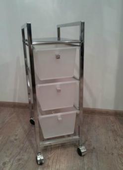 Этажерки для ванной. Тумба с 3-мя ящиками BA6556 этажерка