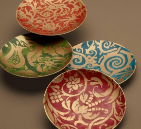 . Набор из 4-х десертных тарелок  Fortuny Maori