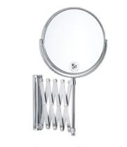 Зеркала косметические с подсветкой увеличением настенные настольные Зеркала с присосками. Зеркало настенное шарнир гармошка раздвижное с 5-ти кратным увеличением BA5015