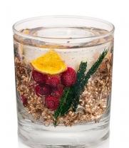 . Свеча в цилиндрическом стакане с натуральными сушеными ягодами Зимние специи арт.3535 от Stone Glow