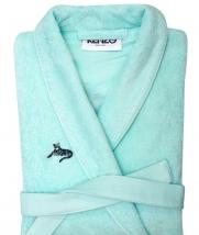Халаты Одежда для бани и сауны Deluxe. Халат укороченный женский с воротником шалькой (S; M; L) Logo KZ Amande (Лого КЗ Аманд) от Kenzo