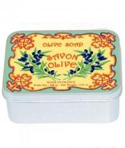 Luxury Гель для душа Мыло. Мыло ароматизированное Оливки в жестяной коробочке от Le Blanc